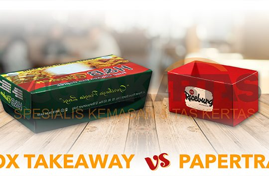 box take away vs paper tray